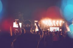 Abstrakter Musikfestivalhintergrund stockfotos