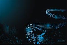Abstrakter Musikhintergrund lizenzfreies stockfoto