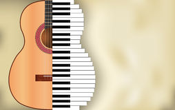 Abstrakter Musikhintergrund stock abbildung