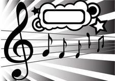 Abstrakter Musikhintergrund Lizenzfreie Stockfotografie