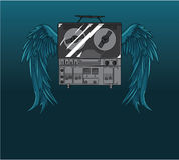 Abstrakter Musikhintergrund Lizenzfreies Stockbild