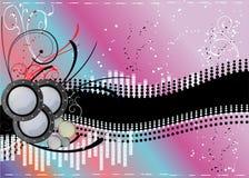 Abstrakter Musikhintergrund Stockfoto