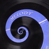 Abstrakter Musikvinyldiskettenspirale Fractalhintergrund Retro- Musikvinyldisketten-Zusammenfassung Fractal Weinlesemusikalisches Stockbilder