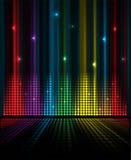 Abstrakter Musikvolumenentzerrerkonzept-Ideenhintergrund Stockfotos