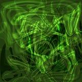 Abstrakter mystischer leuchtender grüner Hintergrund des Strudels Lizenzfreies Stockfoto