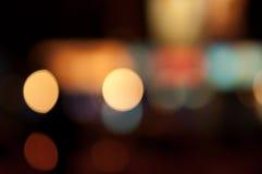 Abstrakter Nachtstadt bokeh Hintergrund Lizenzfreies Stockfoto