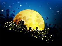 Abstrakter Nachtstadthintergrund Lizenzfreie Stockfotografie