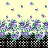 Abstrakter nahtloser Blumenhintergrund Stockfotos