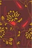Abstrakter nahtloser Blumenhintergrund Lizenzfreie Stockfotos