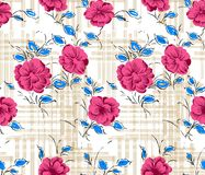 Abstrakter nahtloser Blumenhintergrund Lizenzfreies Stockbild