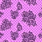 Abstrakter nahtloser Blumenhintergrund Lizenzfreies Stockfoto
