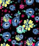 Abstrakter nahtloser Blumenhintergrund Lizenzfreie Stockbilder