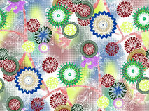 Abstrakter nahtloser Blumenhintergrund Stockfoto