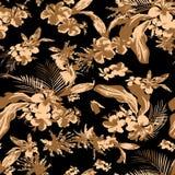 Abstrakter nahtloser Blumenhintergrund Stockbild