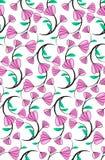 Abstrakter nahtloser Blumenmusterhintergrund mit purpurrotem nettem Florida Lizenzfreies Stockfoto