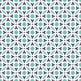 Abstrakter nahtloser dekorativer geometrischer blaue u. grüne Farbmuster-Hintergrund Stockbilder