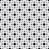 Abstrakter nahtloser dekorativer geometrischer grauer u. weißer Muster-Hintergrund Stockbilder