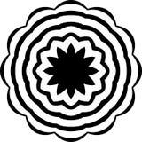 Abstrakter nahtloser dekorativer geometrischer heller schwarzer u. weißer Muster-Hintergrund stockfotos