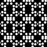 Abstrakter nahtloser dekorativer geometrischer heller schwarzer u. weißer Muster-Hintergrund lizenzfreie stockfotografie