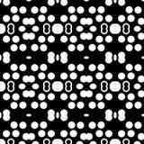 Abstrakter nahtloser dekorativer geometrischer heller schwarzer u. weißer Muster-Hintergrund lizenzfreies stockfoto