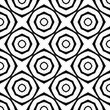 Abstrakter nahtloser dekorativer geometrischer heller schwarzer u. weißer Muster-Hintergrund lizenzfreie stockfotos