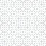 Abstrakter nahtloser dekorativer geometrischer hellgrauer u. weißer Muster-Hintergrund Stockbild