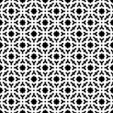 Abstrakter nahtloser dekorativer geometrischer schwarzer u. weißer Muster-Hintergrund Lizenzfreies Stockfoto
