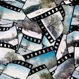 Abstrakter nahtloser Filmmusterhintergrund Stockfotografie