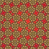 Abstrakter nahtloser geometrischer einfacher Mustermit blumenhintergrund Lizenzfreie Stockfotografie