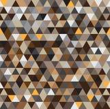 Abstrakter nahtloser geometrischer Musterhintergrund mit braunem Ton Lizenzfreie Stockfotografie