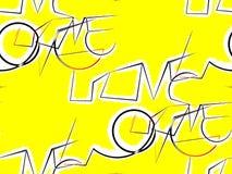 Abstrakter nahtloser Hintergrund auf dem Gelben geschrieben loven Liebe Stockfotos