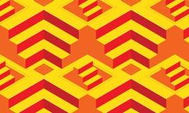 Abstrakter nahtloser Hintergrund des Musters 3D, geometrisches Vektor illust Stockfoto