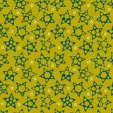 Abstrakter nahtloser Hintergrund mit den großen und kleinen Sternen Vektor Lizenzfreies Stockbild