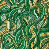 Abstrakter nahtloser Hintergrund mit grüner Welle stock abbildung