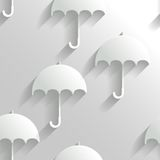 Abstrakter nahtloser Hintergrund mit Regenschirmen Lizenzfreies Stockfoto