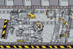 Abstrakter nahtloser industrieller Fabrikhintergrund lizenzfreie stockfotos