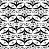 Abstrakter nahtloser Kugelschreiber kräuselt Muster wiith Spitzen Stockbilder