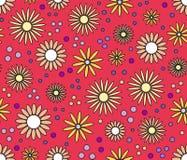 Abstrakter nahtloser mit Blumenhintergrund Stockbilder