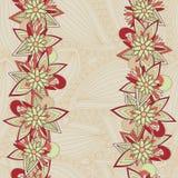Abstrakter nahtloser mit Blumenhintergrund vektor abbildung