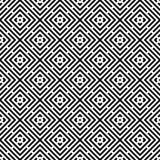 Abstrakter nahtloser moderner Hintergrund in der Schwarzweiss-Art Lizenzfreie Stockfotos