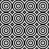 Abstrakter nahtloser moderner Hintergrund in der Schwarzweiss-Art Stockfoto