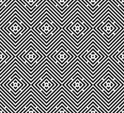 Abstrakter nahtloser moderner Hintergrund in der Schwarzweiss-Art Stockbild