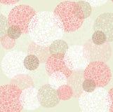 Abstrakter nahtloser Polkapunkt kreist Muster ein Stockbild