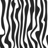 Abstrakter nahtloser Schwarzweiss-Musterhintergrund Zebrahautbeschaffenheit Lizenzfreie Stockfotografie