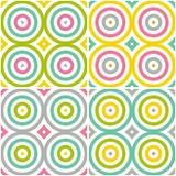 Abstrakter nahtloser stilvoller runder Hintergrund Wiederholen des geometrischen Musters mit Kreiselementen Stockfotos