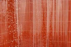 Abstrakter nasser Duschvorhang Stockfotografie