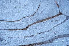 Abstrakter natürlicher Hintergrund mit Mustern des Eises Lizenzfreie Stockbilder