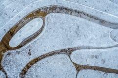 Abstrakter natürlicher Hintergrund mit Mustern des Eises Lizenzfreie Stockfotos