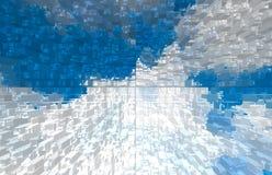 Abstrakter Natur-Hintergrund Weiße Wolken über blauem Himmel lizenzfreie stockfotografie