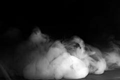 Abstrakter Nebel oder Rauch auf schwarzem Farbhintergrund Lizenzfreie Stockbilder